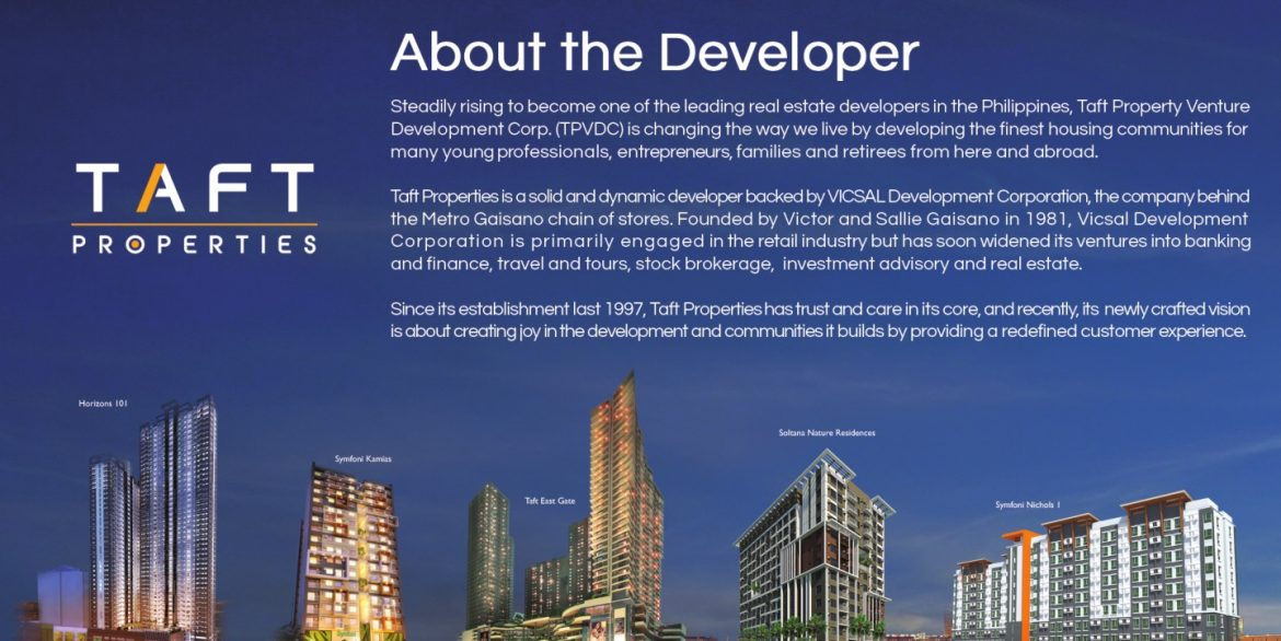 About Taft Property the Developer